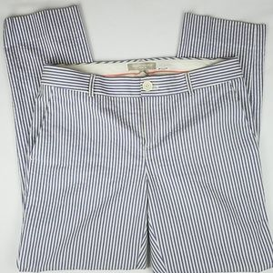 NWOT Banana Republic Martin Fit Cotton Blue Stripe